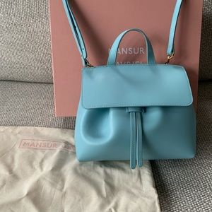 Mansur Gavriel Calf Mini Mini Lady Bag in Sky Blue